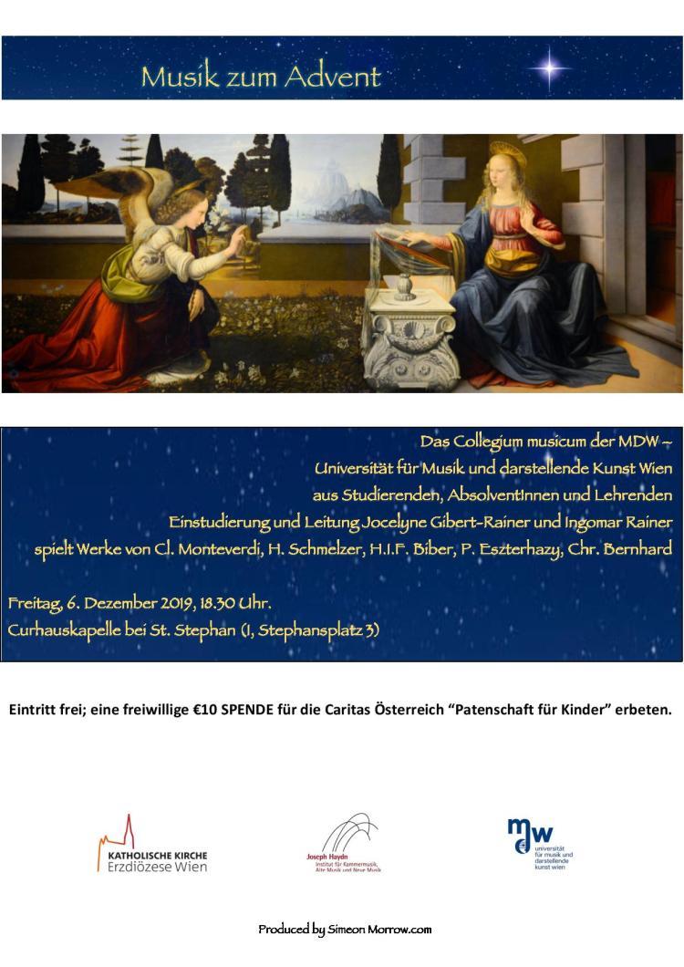 Einladung-Musik zum Advent (6. Dezember um 18 Uhr